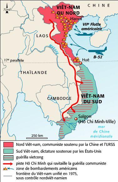 guerre du vietnam carte b) Son emploi pendant la guerre du Viêt Nam (1959 1975)